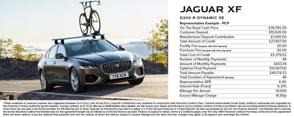 Jaguar XF PCP Offer