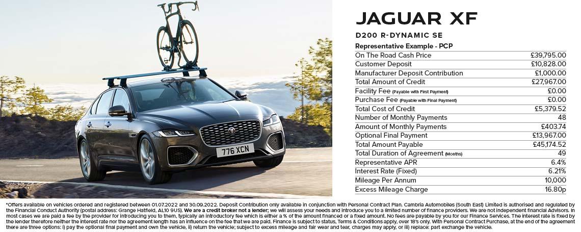 Jaguar XF PCP Offer