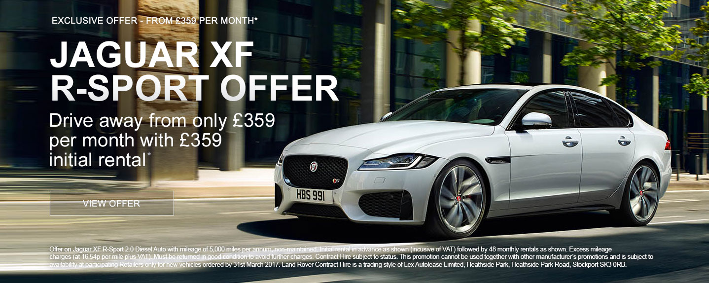 Jaguar XF R-Sport PCH Offer