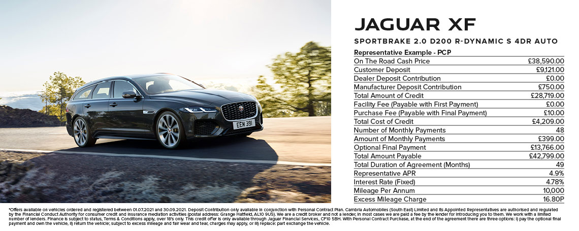 Jaguar XF Sportbrake PCP Offer