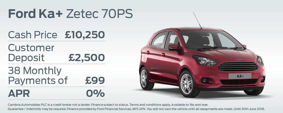 New Ford KA Plus Offer