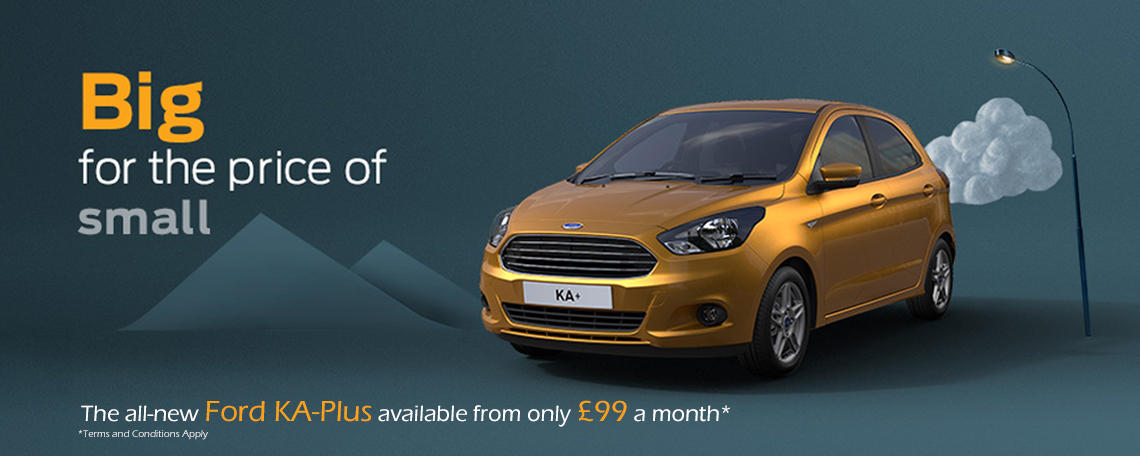 New Ford KA Plus Landing Page