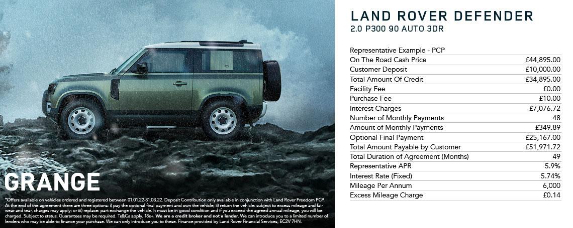 New Land Rover Defender Offer