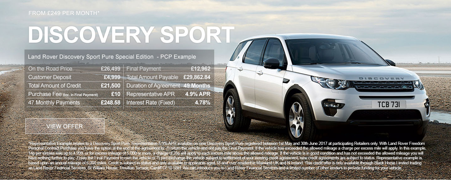 New Land Rover Discovery Sport Pure Special Edition Offer