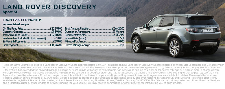 New Land Rover Discovery Sport from £299 per month*