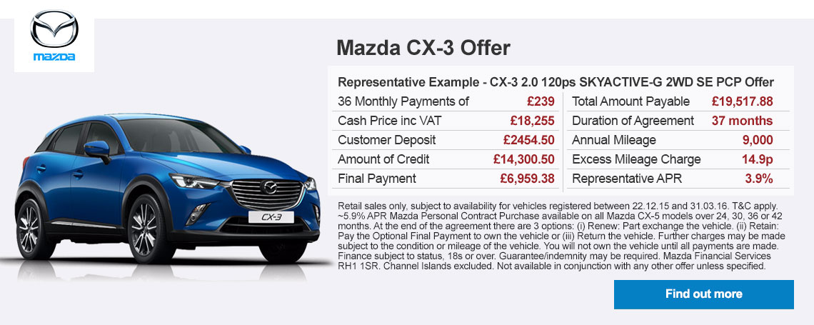 New Mazda CX-3 Offer