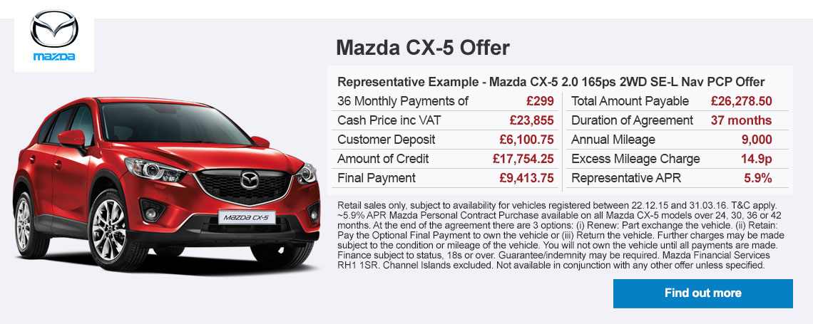 New Mazda CX-5 Offer