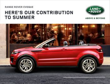 Land Rover Range Rover Evoque Convertible - Here's our contribution to summer weekend event