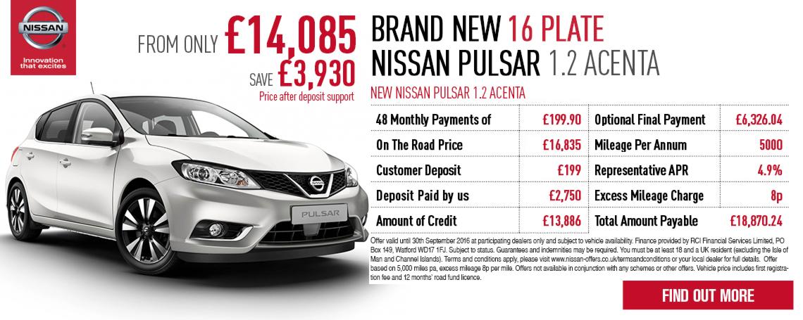 New Nissan Pulsar Offer