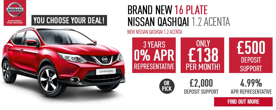New Nissan Qashqai Offer