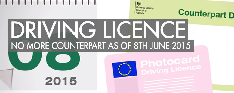 No more Driving Licence Counterpart - What to do if you want to test drive a car