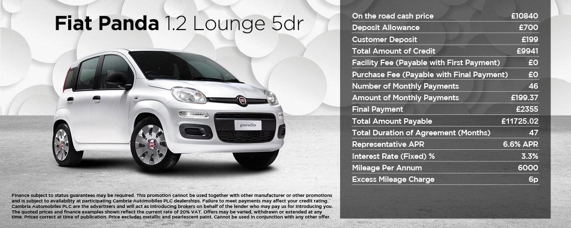 New Fiat Panda Lounge