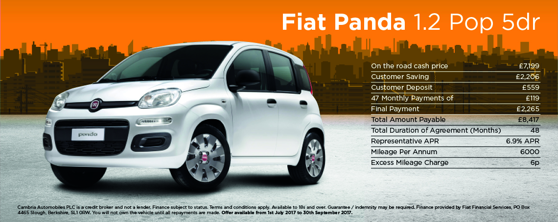 New Fiat Panda Pop Offer