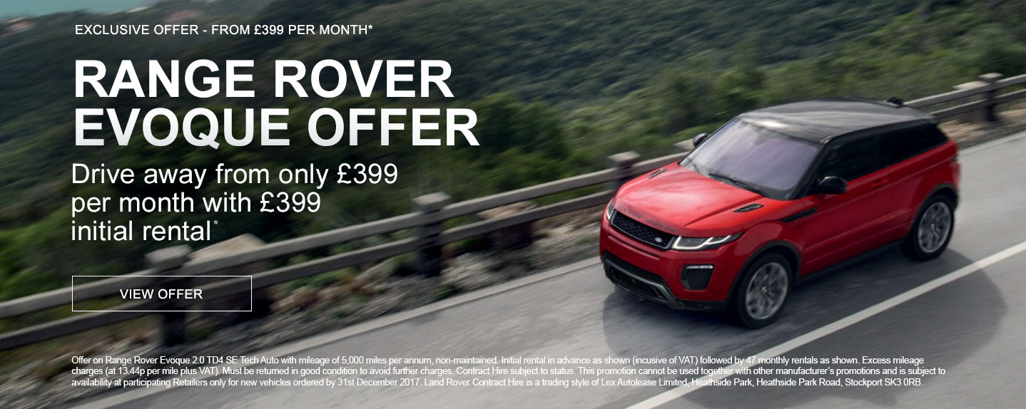 New Range Rover Evoque Offer