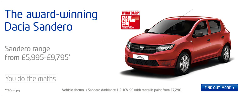 Award Winning Dacia Sandero