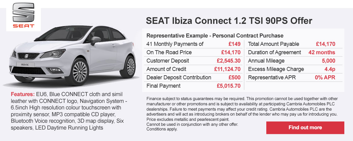 New SEAT Ibiza Connect Offer