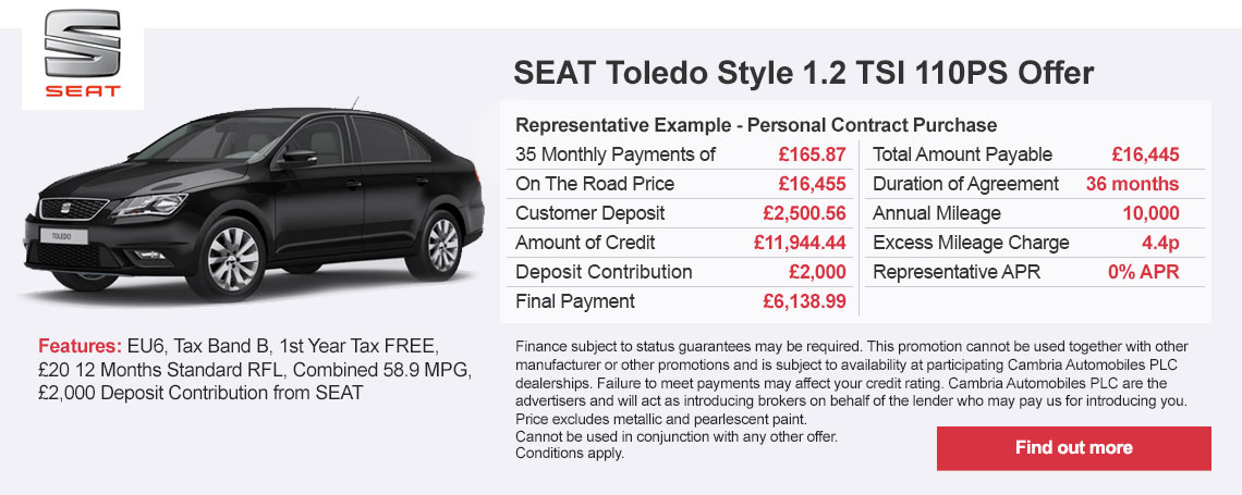 New SEAT Toledo Offer