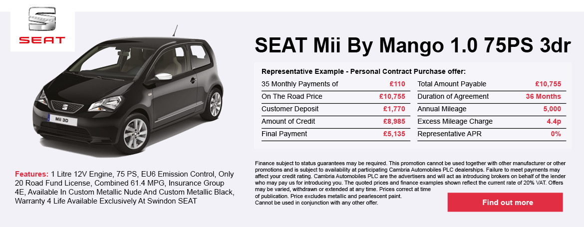 Seat Mii By Mango 1.0 75PS 3Dr