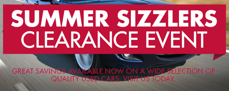 Summer Sizzlers Clearance Event