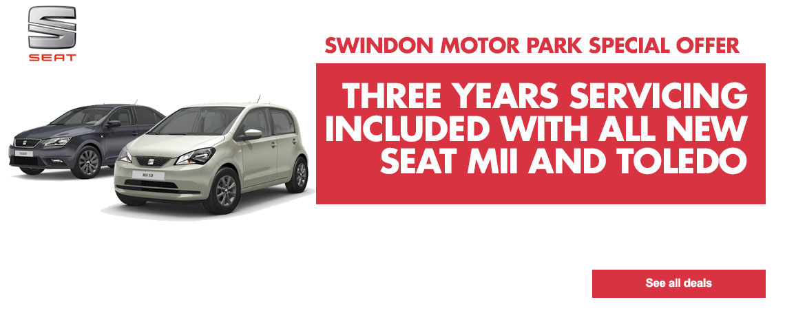THREE YEARS SERVICING INCLUDED WITH NEW SEAT MII AND TOLEDO at Swindon Motorpark