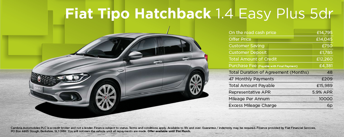 Fiat Tipo Hatchback Easy+