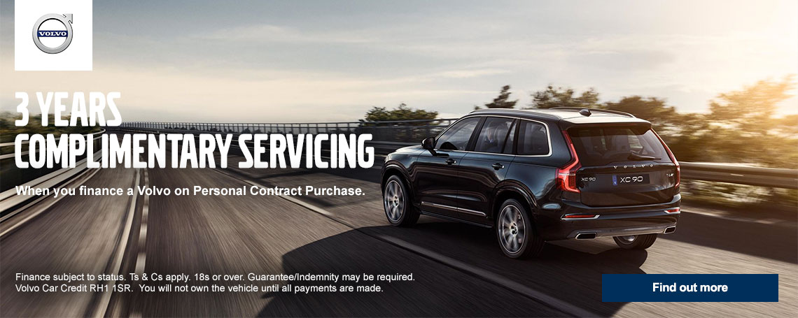 Volvo 3 Years Complimentary Servicing Offer