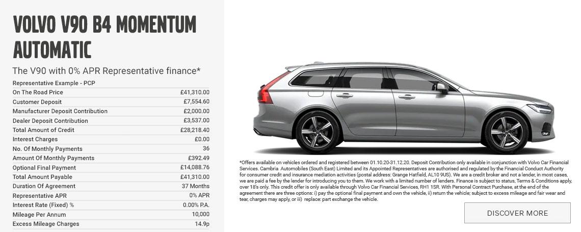 New Volvo V90 PCP Offer