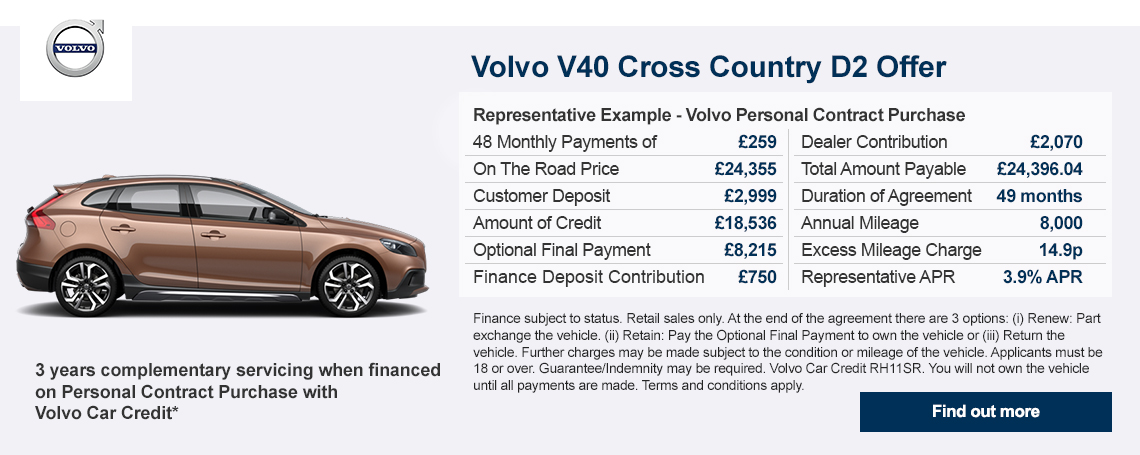 Volvo V40 Cross Country Offer