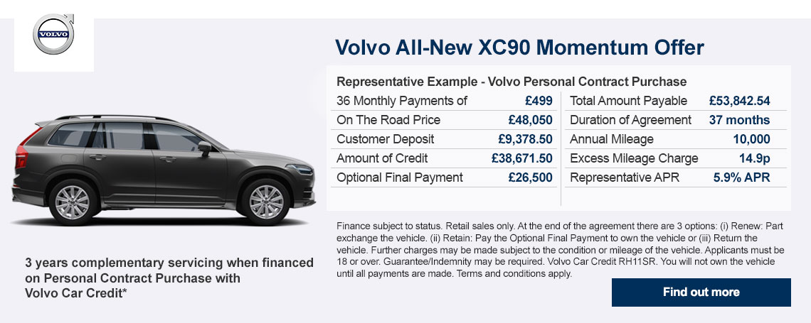 All-New Volvo XC90 Offer at Doves Volvo Croydon