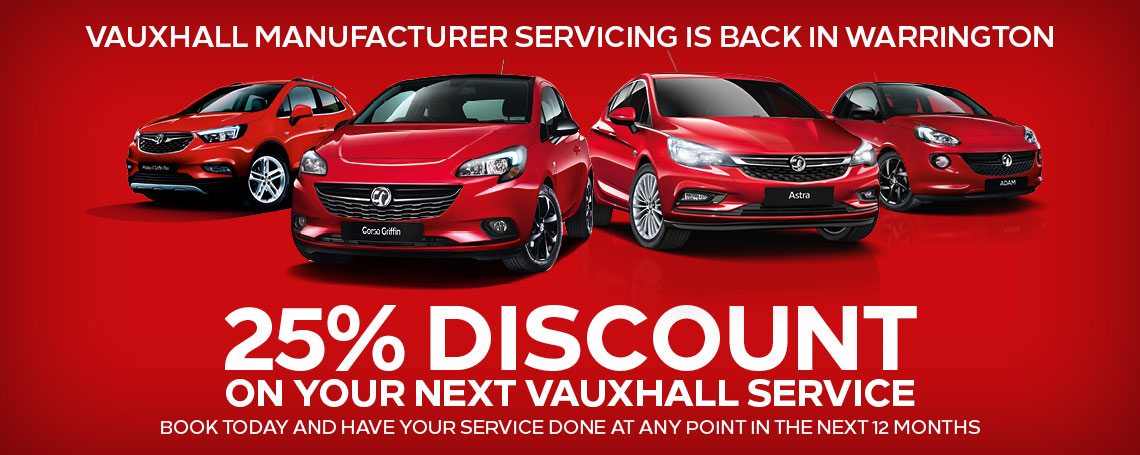 Warrington Motors Vauxhall Service Offer - 25% Off Your Next Vauxhall Service