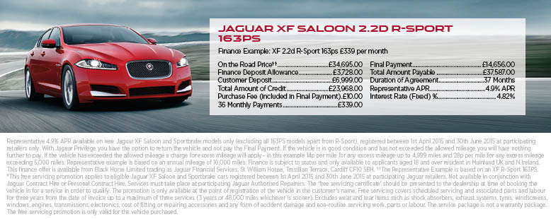 Jaguar XF Finance - Exclusive Deal