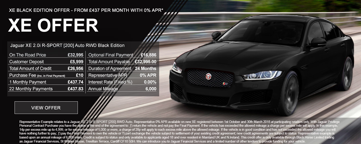 Jaguar XE Black Edition