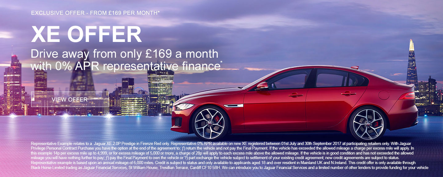 Exclusive Jaguar XE Offer