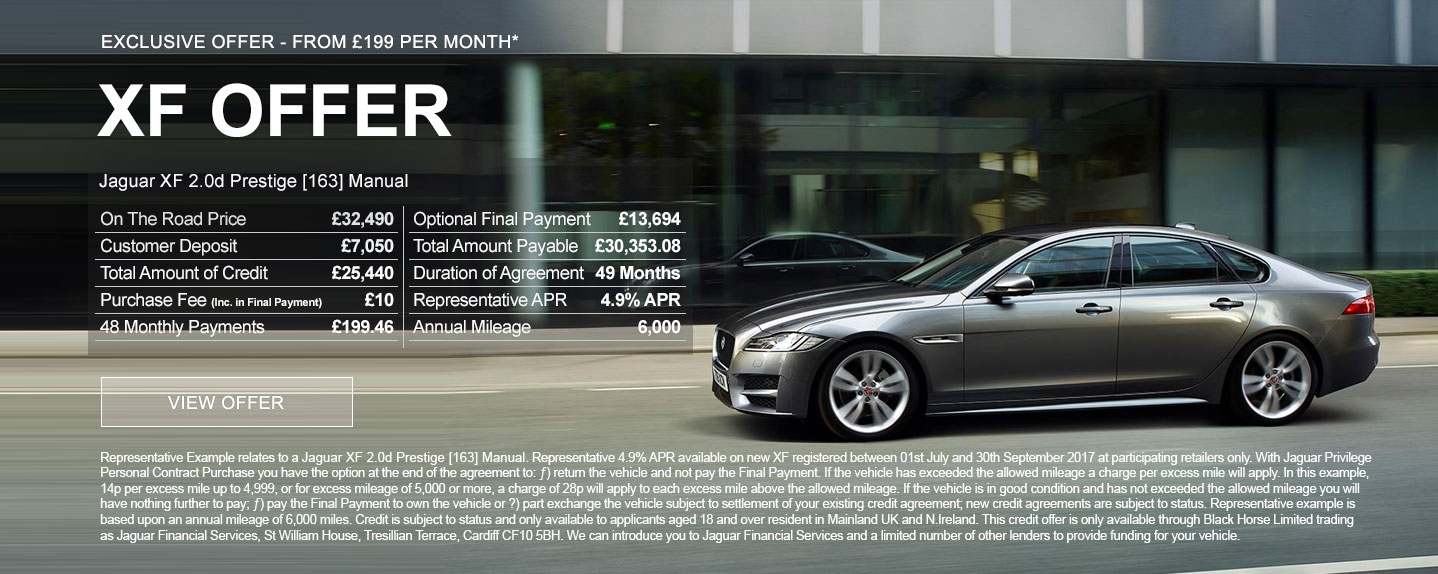 Exclusive Jaguar XF Offer