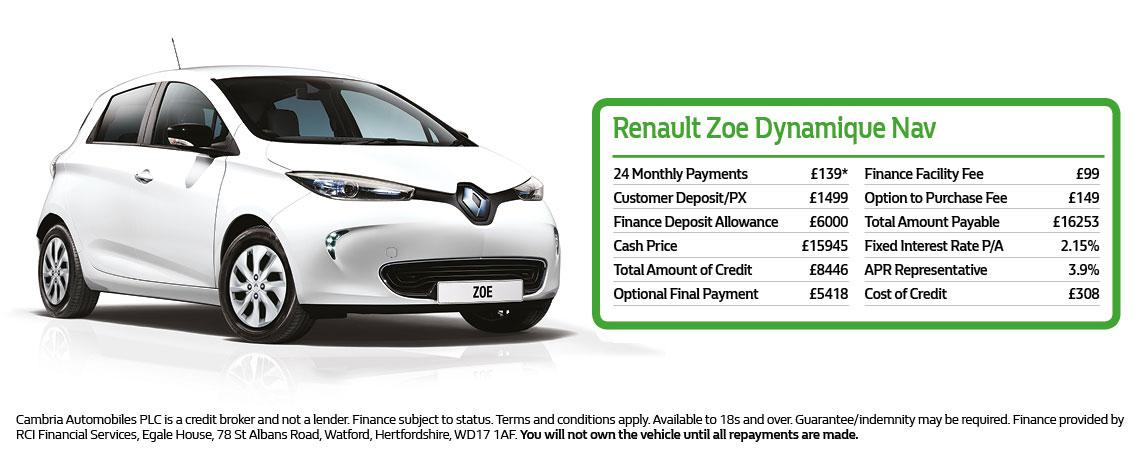 New Renault ZOE Offer